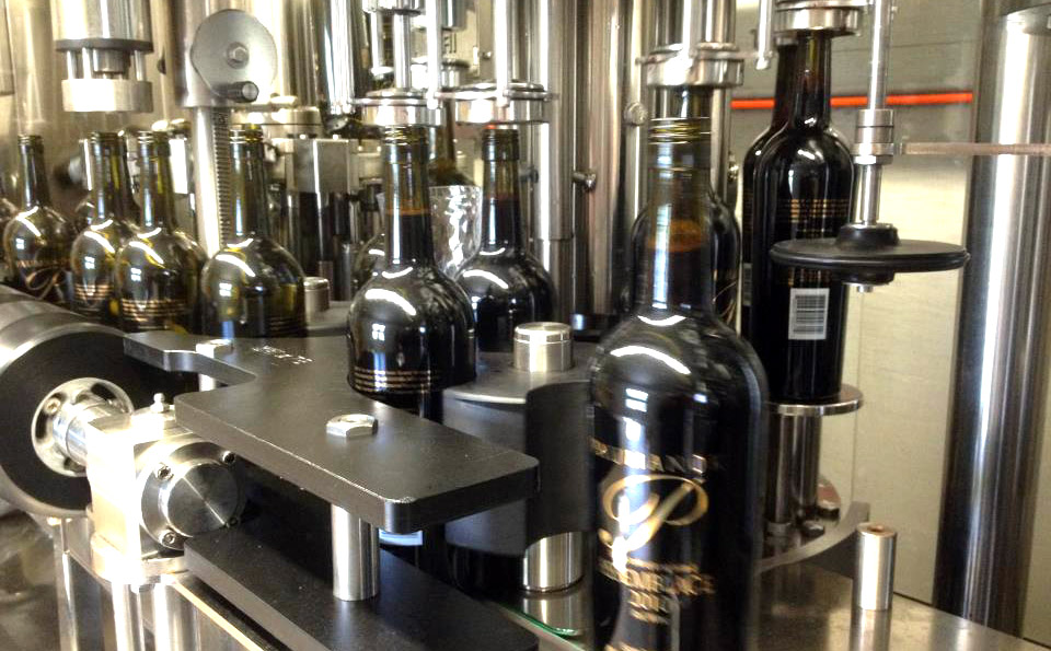 Paumanok Vineyards 2010 Assemblage on the Stelvin bottling line