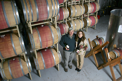 Cutchogue, NY: Jim and Linda Waters of Waters Crest Winery.