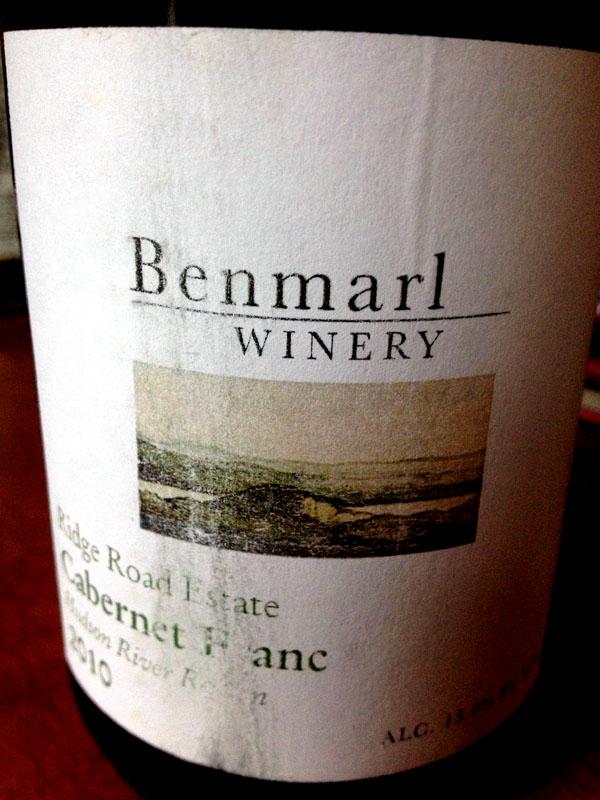 benmarl-2010-ridge-road-cab-franc