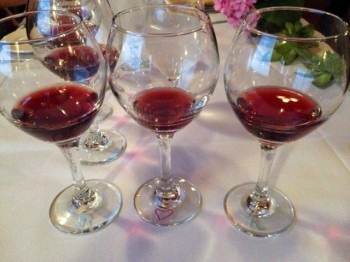 The flight of 3 2007 pinot noirs.