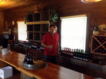 Biehl in his tasting room