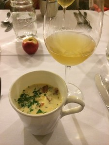 Autumn Chowder with Bacon, Celeriac, Potato and Cream