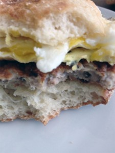 My favorite breakfast sandwich at Orient Country Store