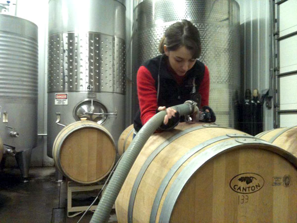 Hector Wine Company assistant winemaker Alex Doniger