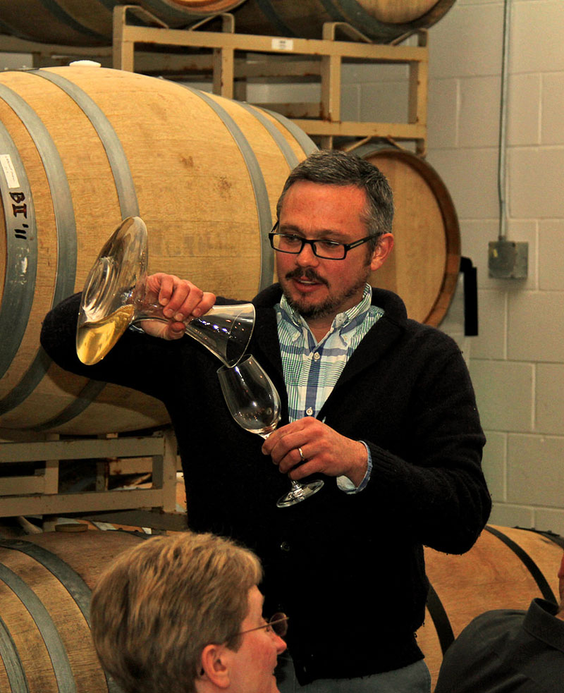 Anthony Road winemaker Peter Becraft