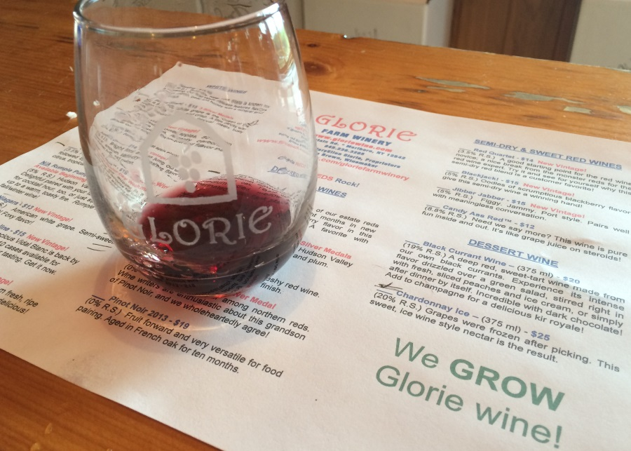 Glorie Farm Winery We Grow WIne With Glass