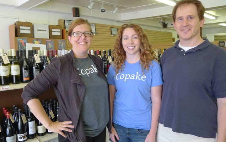From left: Christy Frank, Danielle Potter, and Yanai Frank.